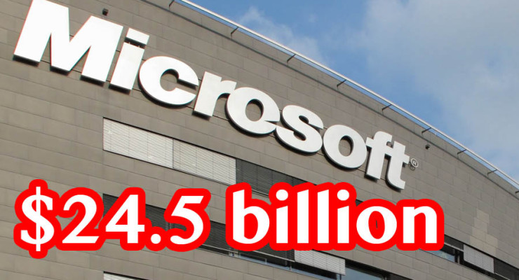 Microsoft's December Quarterly Sales Up by 14% to $24.5 billion