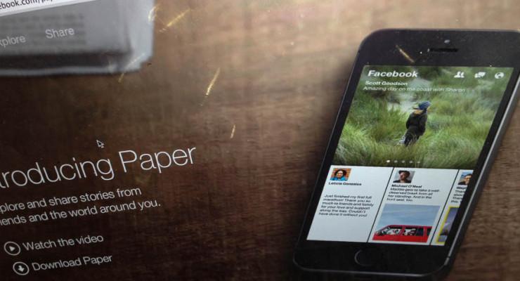 Facebook – Paper app & Shares
