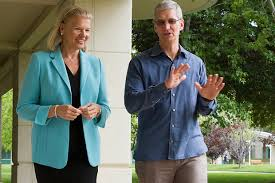 Tim Cook, Virginia Rometty, IBM, Apple
